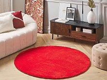 Shaggy Area Rug Red 140 cm Modern High-Pile