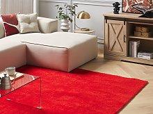 Shaggy Area Rug Red 140 x 200 cm Modern High-Pile