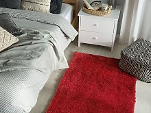 Shaggy Area Rug Red Cotton Polyester Blend 80 x
