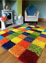 Shaggy Multi Colour - Bright Rainbow - Soft Funky