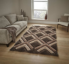 Shaggy - Noble House 8199 Brown Rectangle