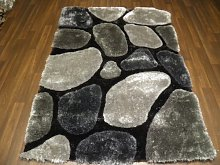 Shaggy Pebbles Design Grey120x170cm Approx 6x4