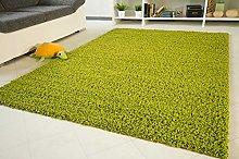 Shaggy Rug Funny Lime Green - Soft Non-Shedding