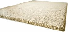 Shaggy Rug Funny Luxus Ivory Cream Very Thick Soft