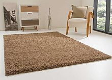 Shaggy Rug Happy XL Soft Touch Beige Thick Non