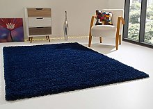 Shaggy Rug Happy XL Soft Touch Blue Thick Non