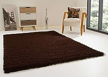 Shaggy Rug Happy XL Soft Touch Chocolate Thick Non