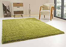 Shaggy Rug Happy XL Soft Touch Green Thick Non