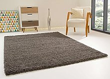 Shaggy Rug Happy XL Soft Touch Grey/Silver Thick