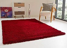 Shaggy Rug Happy XL Soft Touch Red Thick Non