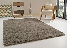 Shaggy Rug Happy XL Soft Touch Silver Thick Non