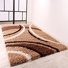 Shaggy Rug High Pile Deep Pile Rug Patterned In