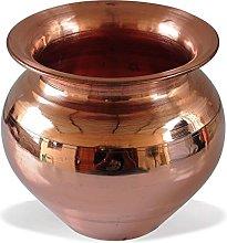 Shalinindia Handmade Indian Ayurvedic Copper Lota