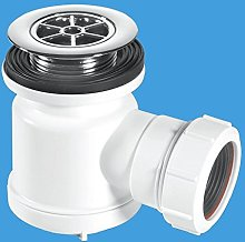 Shallow Shower Trap with 70mm Chromed Plastic