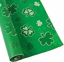 Shamrocks Tablecloth Roll - Party Tableware &