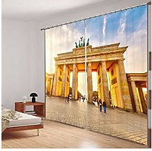 SHANGZHIQIN Fashion Customized 3D Curtain,Ancient