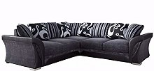 Shannon Black and Grey Fabric and Chenille