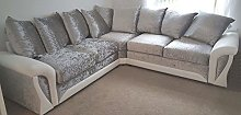 Shannon Corner 3+2 Seater Leather and Crushed