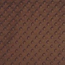 Shannon Dimple Brown Cuddle Plush Fabric - 100cm x