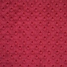 Shannon Dimple Crimson Cuddle Plush Fabric - 100cm