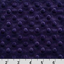 Shannon Dimple Eggplant Cuddle Plush Fabric -