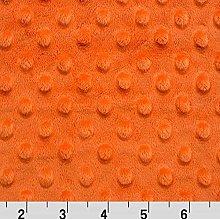 Shannon Dimple Mandarin Cuddle Plush Fabric -