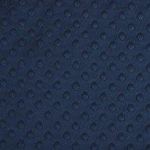 Shannon Dimple Navy Cuddle Plush Fabric - 100cm x