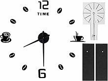 Shanrya DIY Clock, Wall Clock Sticker Mirror