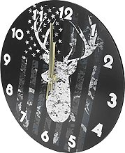 Shanrya Wooden Wall Clock, Stable Quality Mute
