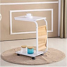 Shaped Mobile Sofa Bed Table On Wheels Side Table