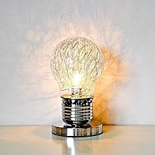 Shaped Table Lamp With Inline Switch, Glass, Clear