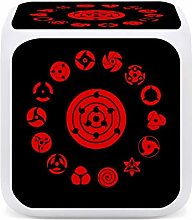 Sharingan Colors Change Alarm Clock 7 Colors with
