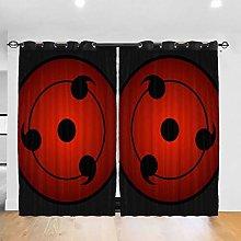 Sharingan Naruto Anime Cartoon Blackout Curtains