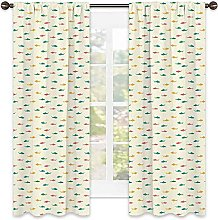 Shark 99% blackout curtain, Kids Nursery Pattern
