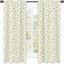 Shark Blackout curtain, Kids Nursery Pattern with