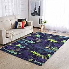 Shark Camouflage Area Rug Patterned Warm Rectangle