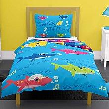 Shark Family 4 in 1 Junior Bedding Bundle (Duvet,