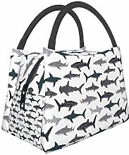 Sharks Nautical Lunch Bag Insulated Lunch Tote