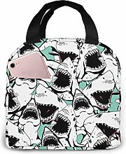 Sharks Portable Lunch Bag Insulated Cooler Bag for