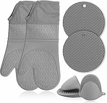 SHARON COOPER Oven Gloves Set, Double Silicone