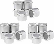 sharprepublic 18 x 60ml Aluminium Make up Pots