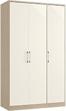 Sharrott 3 Door Wardrobe Marlow Home Co. Colour: