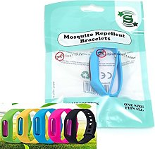 SHATCHI 24 x Deet Free Bracelets, Anti Mosquito,