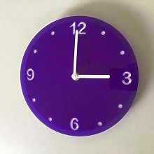 Shatterproof Round Wall Clock - Purple