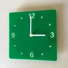 Shatterproof Square Wall Clock - Green