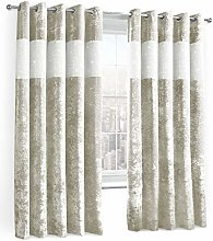 Shaws Direct Crushed Velvet Diamante Curtain Fully