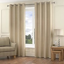 Shaws Direct Madison Eyelet/Ring Top Lined Curtain