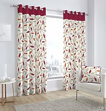 Shaws Direct Red Beechwood Cotton Floral