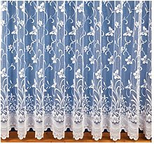 ShawsDirect Butterfly Lace Curtain Voile, Pre-Cut