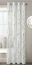 ShawsDirect Swirls Curtain Voile for Windows Ring